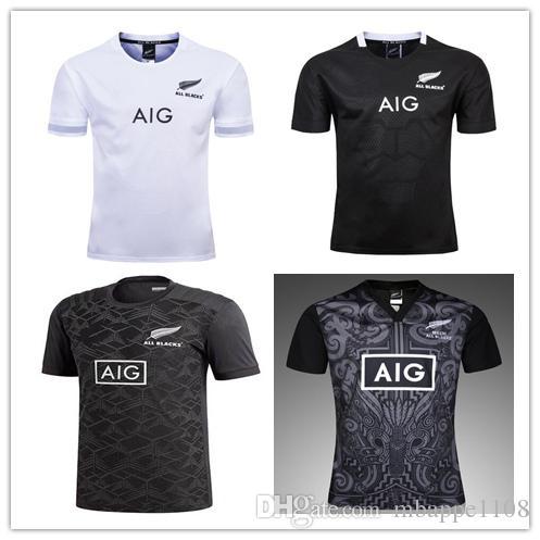 Camiseta De Entrenamiento All Blacks 18 19 CAMISA DE POLO ALL BLACKS  CAMISETA NEGRA Jersey 2018 2019 De Nueva Zelanda Camiseta De Rugby All  Blacks De Talla ... b0bc0295ae4fb
