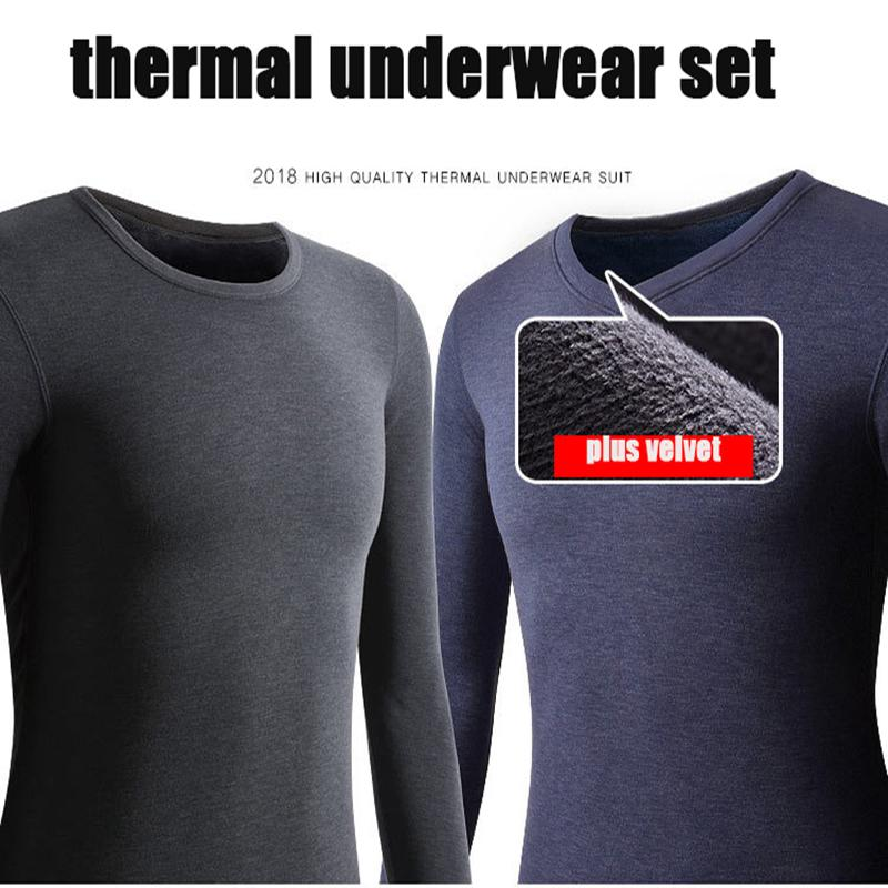 4990a0294f4 2019 XL 7XL Thermal Underwear Sets Fleece Thick Solid Winter Inner Wear  Soft Warm Undershirt Underpants Set Men Long Johns C18121701 From  Lizhang03
