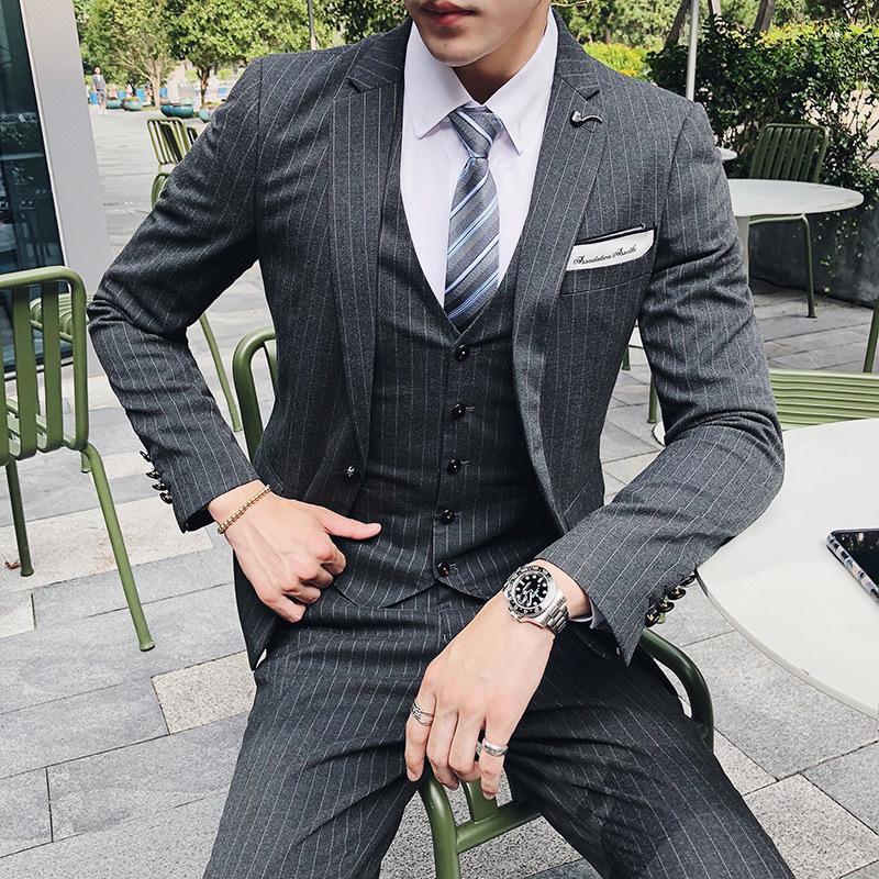 Acheter Nouvelle Robe De Mariée Formelle Trajes De Hombre Erkek Stripe  Costumes Pour Hommes Slim Fit Violet Pour Hommes Costumes De Bal Classique  Stretch De ... e70fa1ffd0f