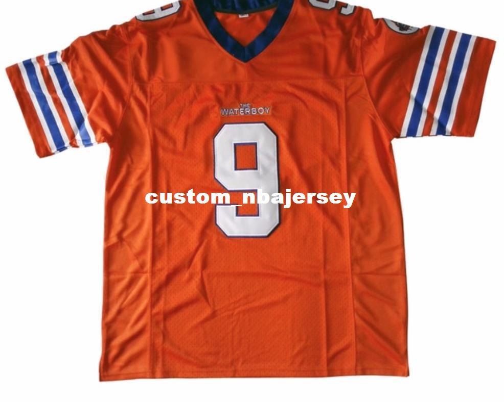ce117c9210d 2019 Cheap Custom Bobby Boucher  9 The Waterboy Football Jersey Adam  Sandler Customized Any Name Number Stitched Jersey XS 5XL From  Custom nbajersey