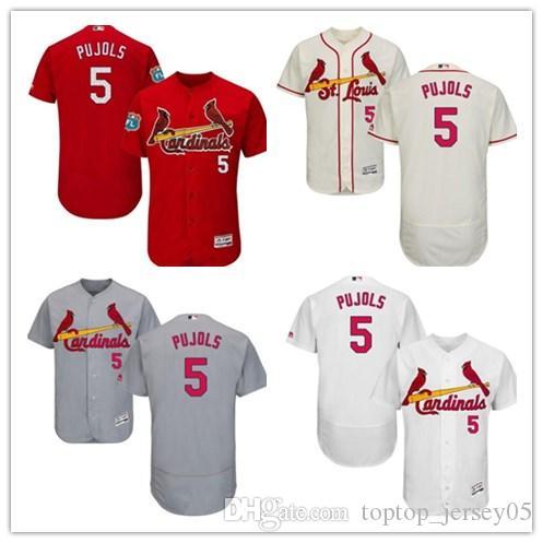 4ff0c77028a6 2019 2018 St. Louis Cardinals Jerseys  5 Albert Pujols Jerseys  Men WOMEN YOUTH Men S Baseball Jersey Majestic Stitched Professional  Sportswear From ...