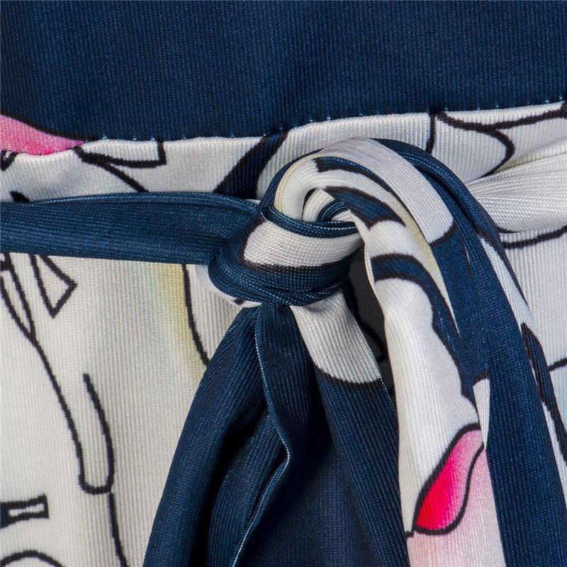 Плюс размер цветочный принт бандаж женщины длинные макси платье партии вечернее Boho повседневное платье с длинным рукавом праздник L XL XXL XXXL 4XL