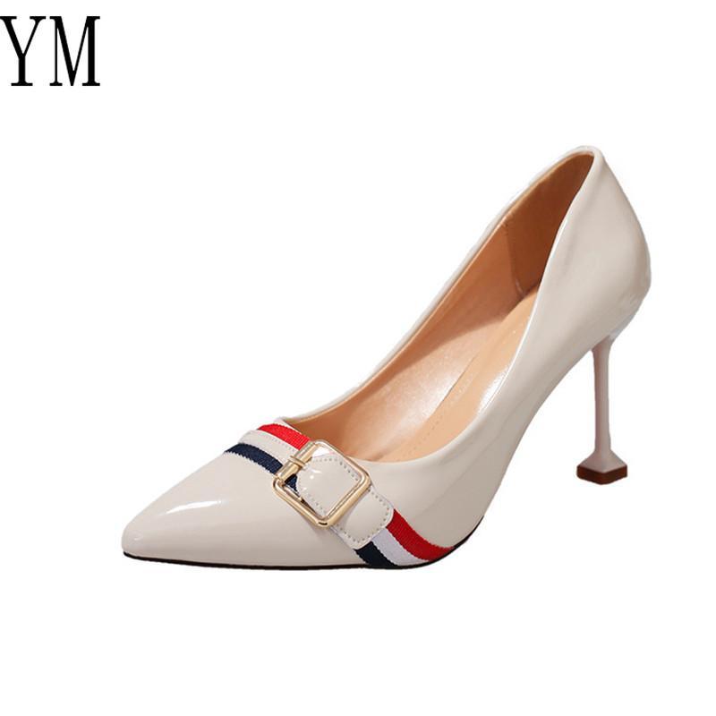 2019 Diseñador De Compre Zapatos Retro Bombas Mujeres Vestir qwInORA