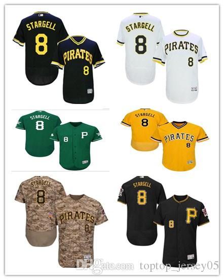 purchase cheap eceb5 85fbe 2018 Pittsburgh Pirates Jerseys #8 Willie Stargell Jerseys  men#WOMEN#YOUTH#Men s Baseball Jersey Majestic Stitched Professional  sportswear