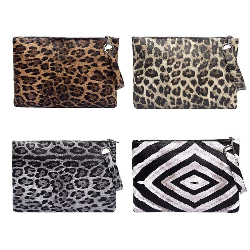 Women Leopard Print Day Clutch PU Leather Zipper Women Envelope Bag Clutch  Evening Bag Female Handbag Carteras Y Bolsos De Mujer Hobo Bags Leather  Handbags ... 16837021ca8e0