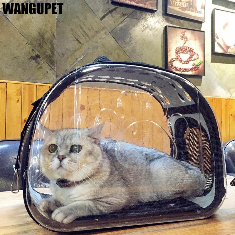 b26e1a097d 2019 Transparent Folding Cat Pack Pet Backpack Cat Dog Universal Travel Out Carrier  Bag Package Transparent Breathable Cat Travel Box D19011201 From ...
