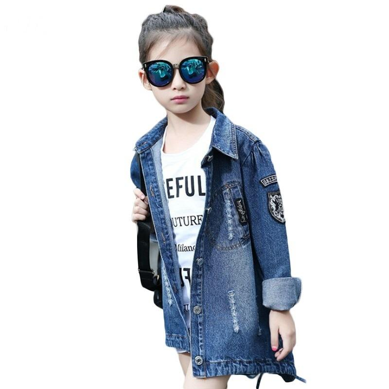 d0c6dd7c2 Jeans Jacket For Girls Fashion Bomber Sequins Jackets Coats Children s  Spring Autumn Denim Jackets Outerwear Windbreak Clothes