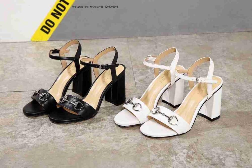 new style 24bf0 7e164 Comode scarpe con tacco alto Scarpe da donna di marca superiore Scarpe  europee con tacco alto in pelle da donna