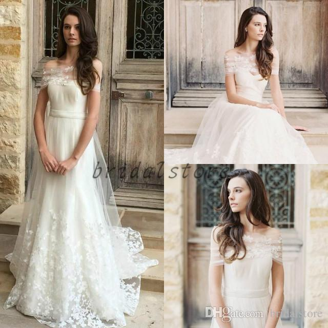 Princess Lace Bohemian Wedding Dresses With Wraps Ivory A Line Full Length Appliques Country Vintage Boho Bridal Gowns Forest Ladies Guest