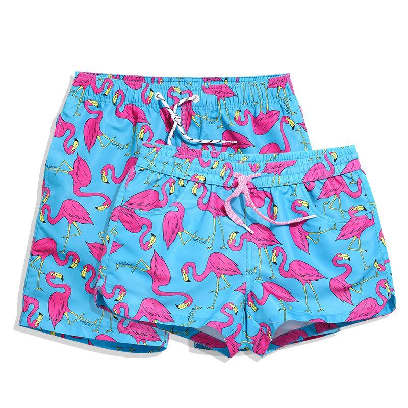 7b1f164700305 2019 Summer Brand Mens Womens Swimming Trunks Quick Dry Boardshorts Print  Sportswear Beach Swimwear Couple Bathing Surfing Short From Roadsun, ...