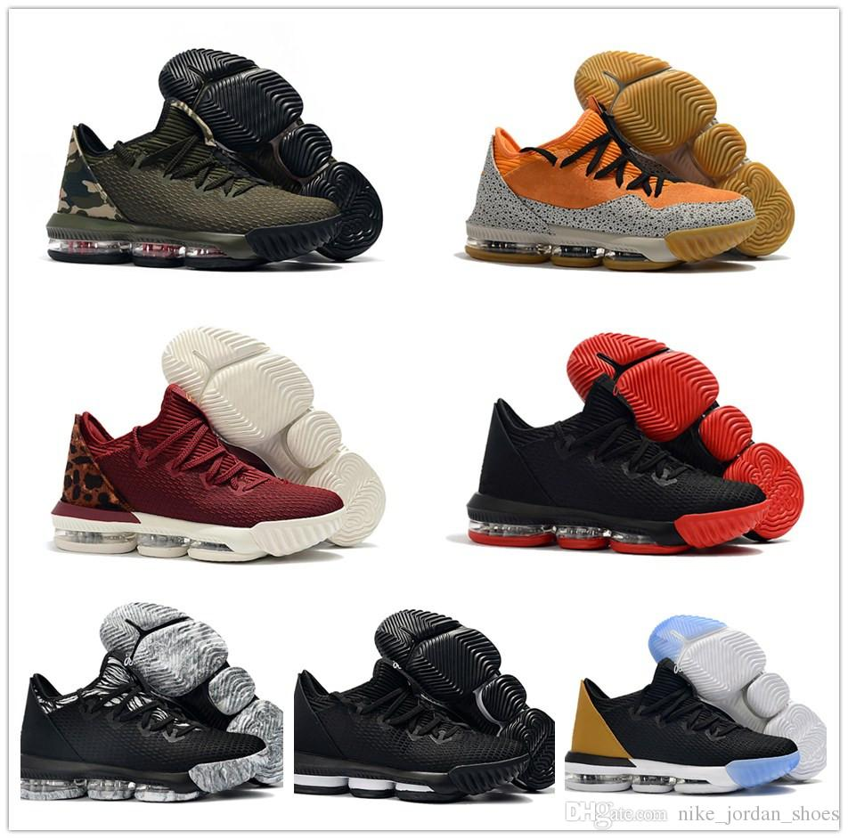 super popular 40fbc 71c83 Lebron 16 Low Soundtrack Safari CAMO Men Basketball Shoes Trainer Hottest  James 16 Black Cargo Khaki Kumquat Mens Athletic Sport shoes
