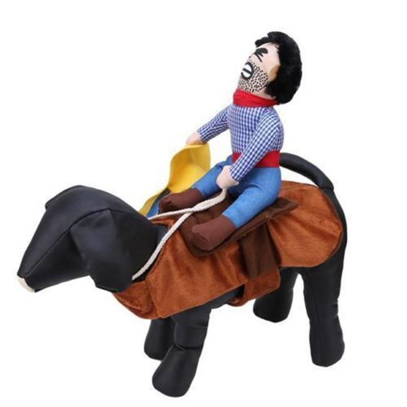 Komik Hayvan Kedi Köpek Kovboy Rider Coat Giyim Giyim Konfeksiyon Kostüm Cosplay Kıyafet S-XL Noel Kostüm Giydir