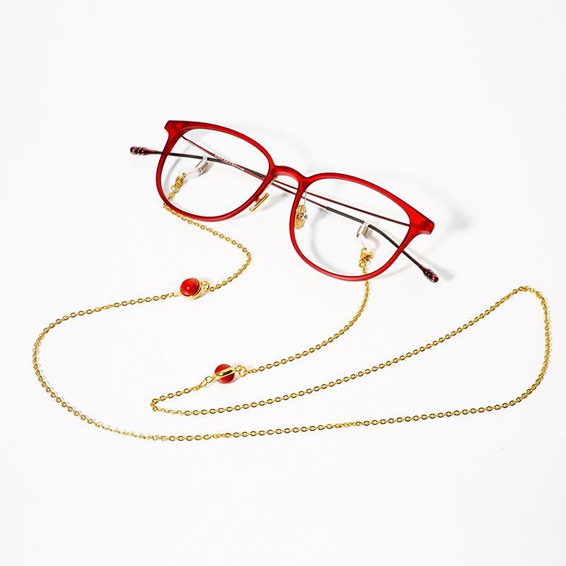 populäres Design größter Rabatt angemessener Preis 2019 Edelstahl Sonnenbrille Lanyard Strap Halskette Perle Perlen Charme  Metall Brillen Brillenkette Schnur für Lesebrille