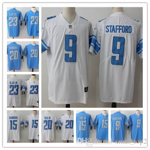 best sneakers 483c1 aa374 Mens 9 Matthew Stafford Detroit Jersey Lions Football Jersey 23 Darius Slay  JR 20 Barry Sanders 15 Golden Tate III Color Rush Football Shirt