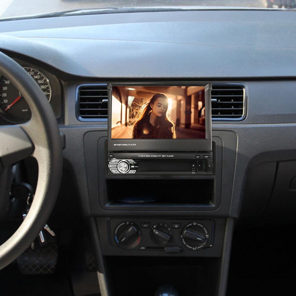 Freeshipping العالمي 7 بوصة قابل للسحب واحد الدين MP5 لاعب سيارة ستيريو راديو لاعب الوسائط المتعددة الترفيه مع بلوتوث FM USB SD
