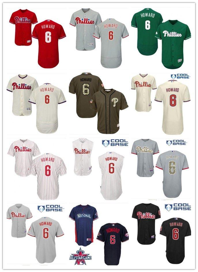 2018 Top Philadelphia Phillies Jerseys  6 Howard Jerseys Men WOMEN YOUTH  Men S Baseball Jersey Majestic Stitched Professional Sportswear UK 2019  From ... 527dfa2e1453