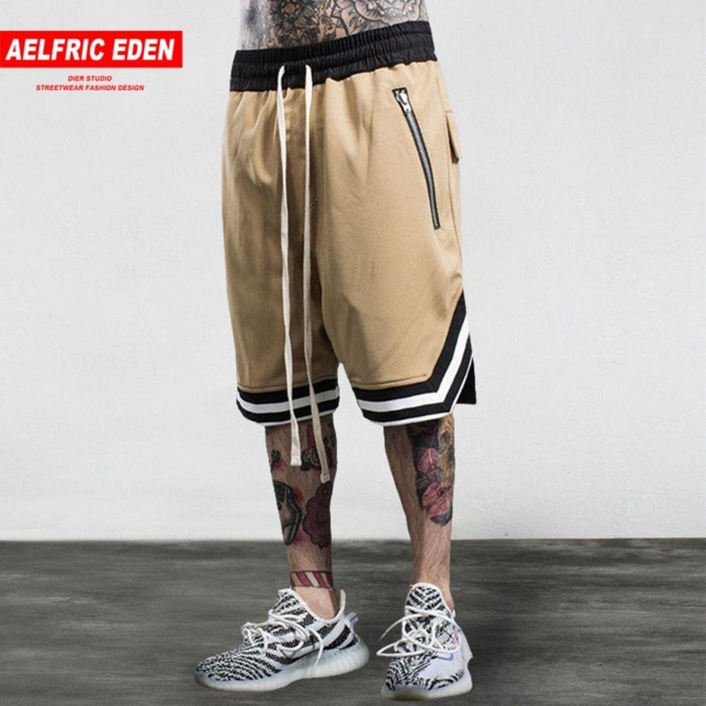 9cf3876a1485 2019 Aelfric Eden Bermuda Loose Mens Shorts Hip Hop Swag Zipper ...