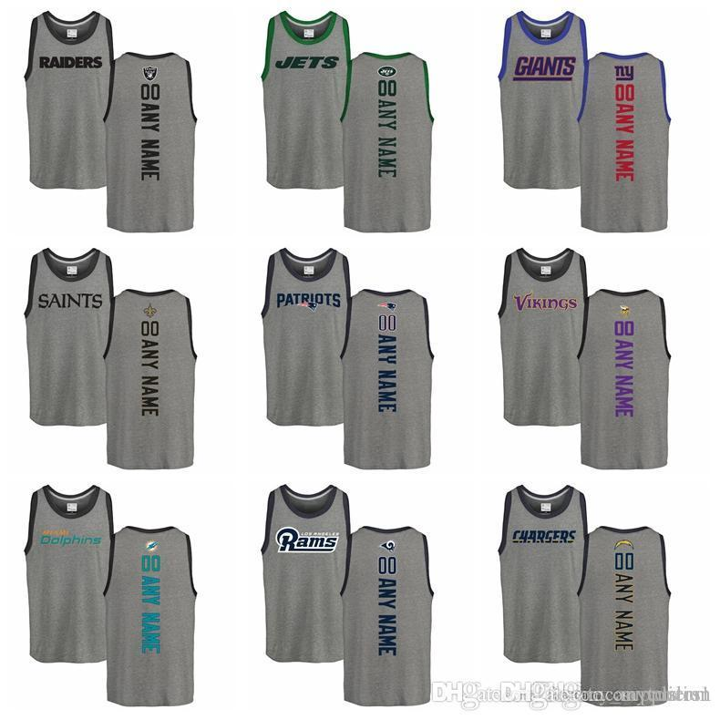 fc2f8b378 2019 Mens Personalized Backer Tri Blend Tank Top Ash Minnesota Vikings  Patriots Orleans Saints New York Giants New York Jets Oakland Raiders From  Anycustom