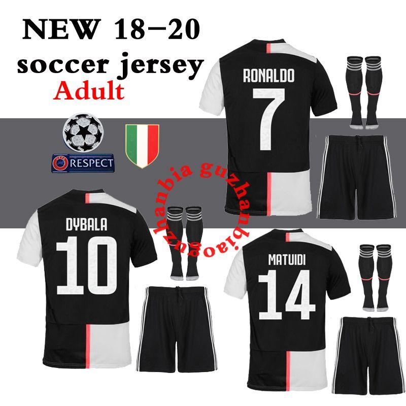free shipping dff47 78103 2018 2019 2020 best quality JUVENTUS Jersey kit full sets socks HIGUAIN  DYBALA Ronaldo soccer jerseys home football shirts