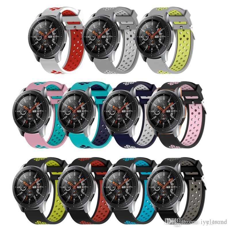 Silicone WatchBands for Samsung Galaxy Watch Band for Samsung Galaxy 42mm 46mm replacement Sports Watches wristStrap 20mm 22mm hot sale