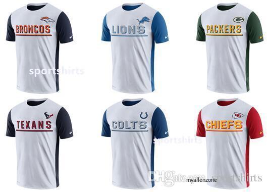 super popular 6a06c 4cdb2 Men Baltimore Ravens Denver Broncos T shirt Lions Packers Houston Texans  Indianapolis Colts Chiefs White Champ Drive 2.0 Performance T-Shirt