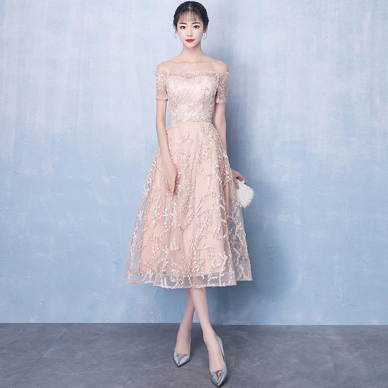 f31bd73fc258 2019 neue elegante damen abendkleider champagner edel schlank bankett  vestidos sexy brautjungfer hochzeit kleid kleid xs-xxl