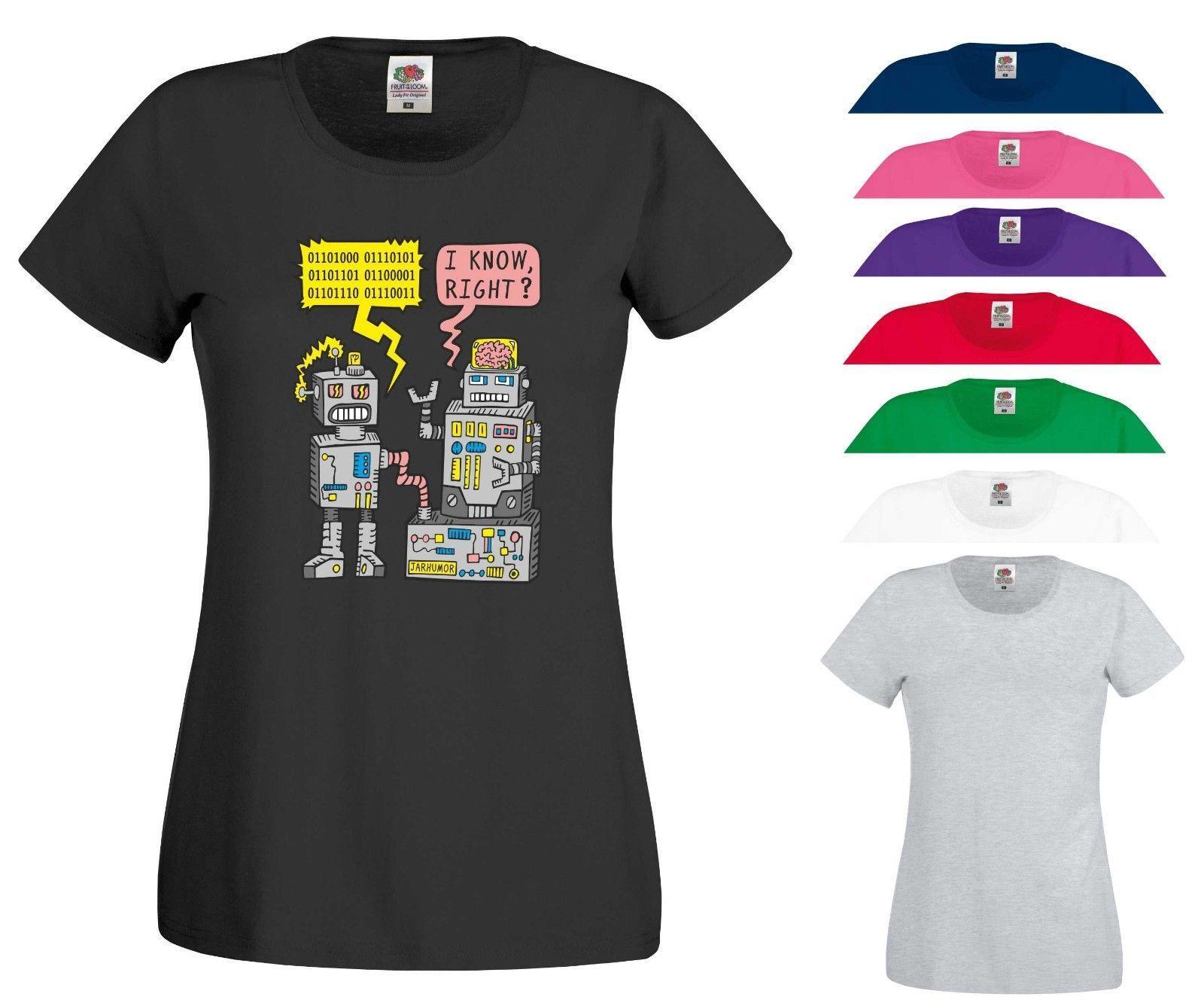 Compre Robot Divertido Broma Camiseta Código Binario Nerd Geek Xbox PS4  Video Juegos Mujeres Top A  10.66 Del Designtshirts201809  2709a8e8d06