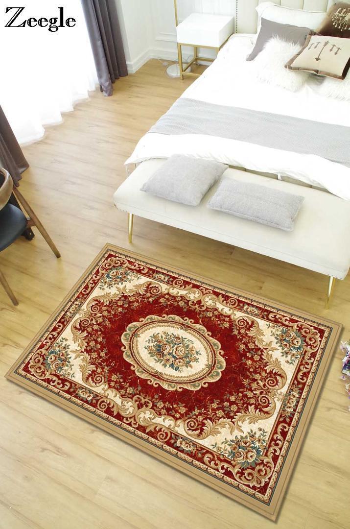 Zeegle European Living Room Carpet Anti Slip Floor Mats Bedroom Bed