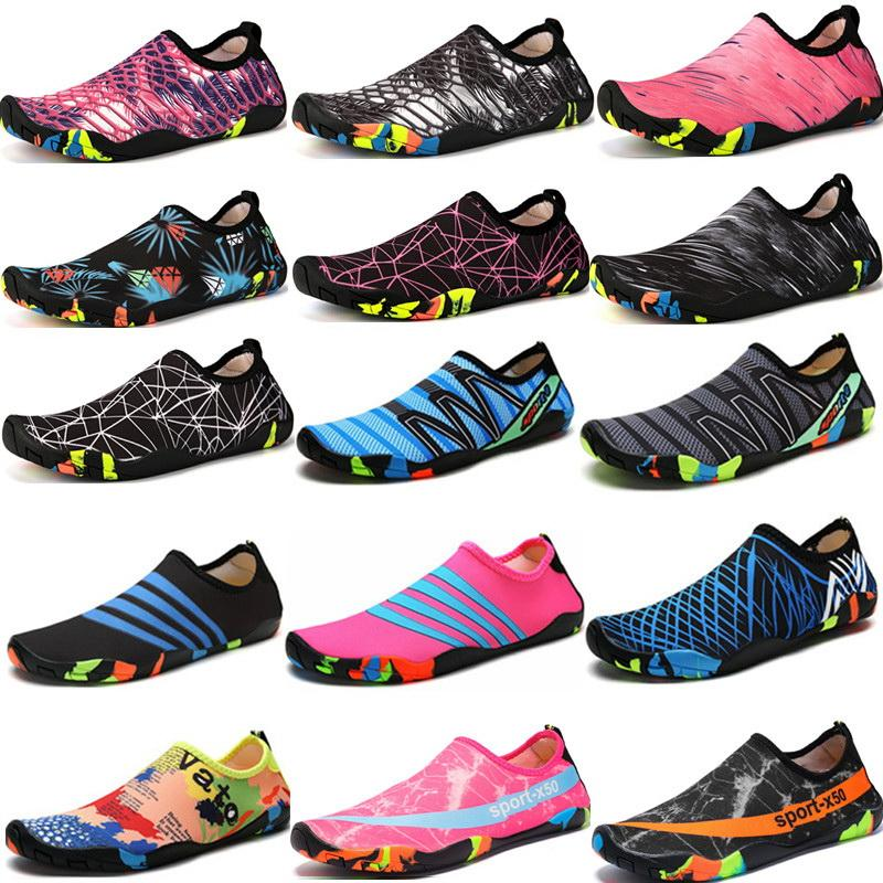 2019 Swimming Water Aqua Shoes Men Women Beach Camping Shoes Adult Unisex Flat Soft Walking Lover yoga Non-slip sneakers