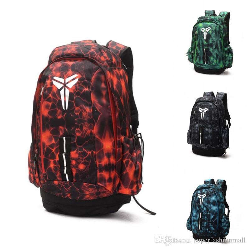 Brand New Kobe Backpack 19ss Kobe Bryant Mens Womens Designer Bags Teenager Black Red Outdoor Basketball Backpack 4 Colour