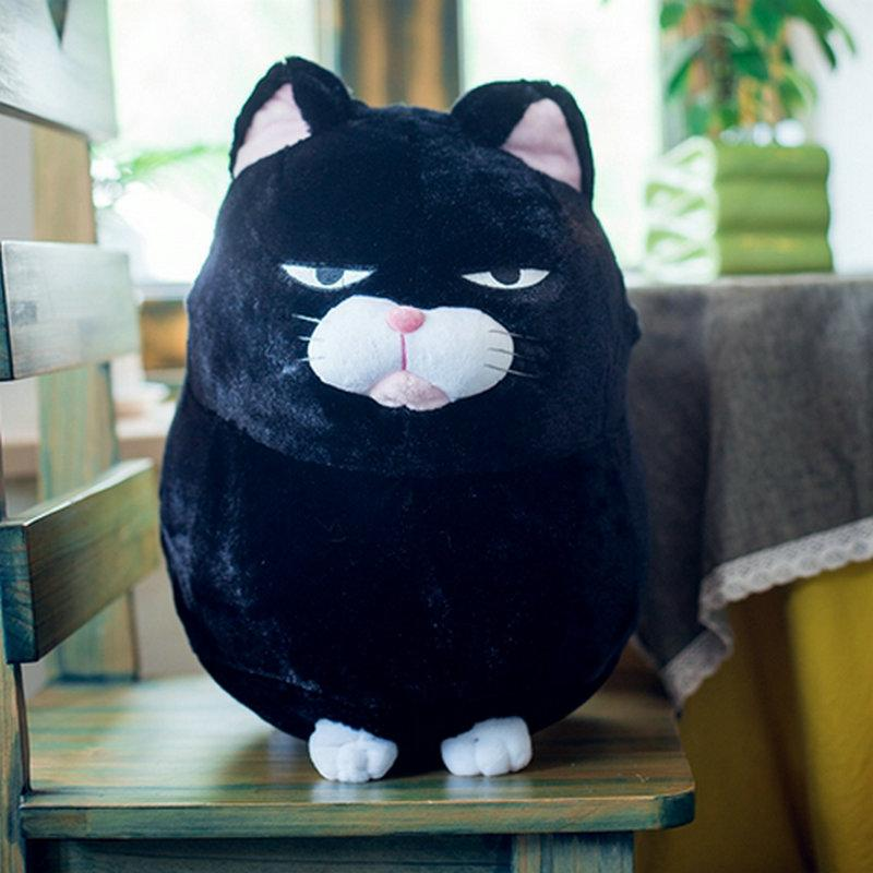 2019 Plush Black Cat Pillows Soft Stuffed Animals Cushion Cartoon