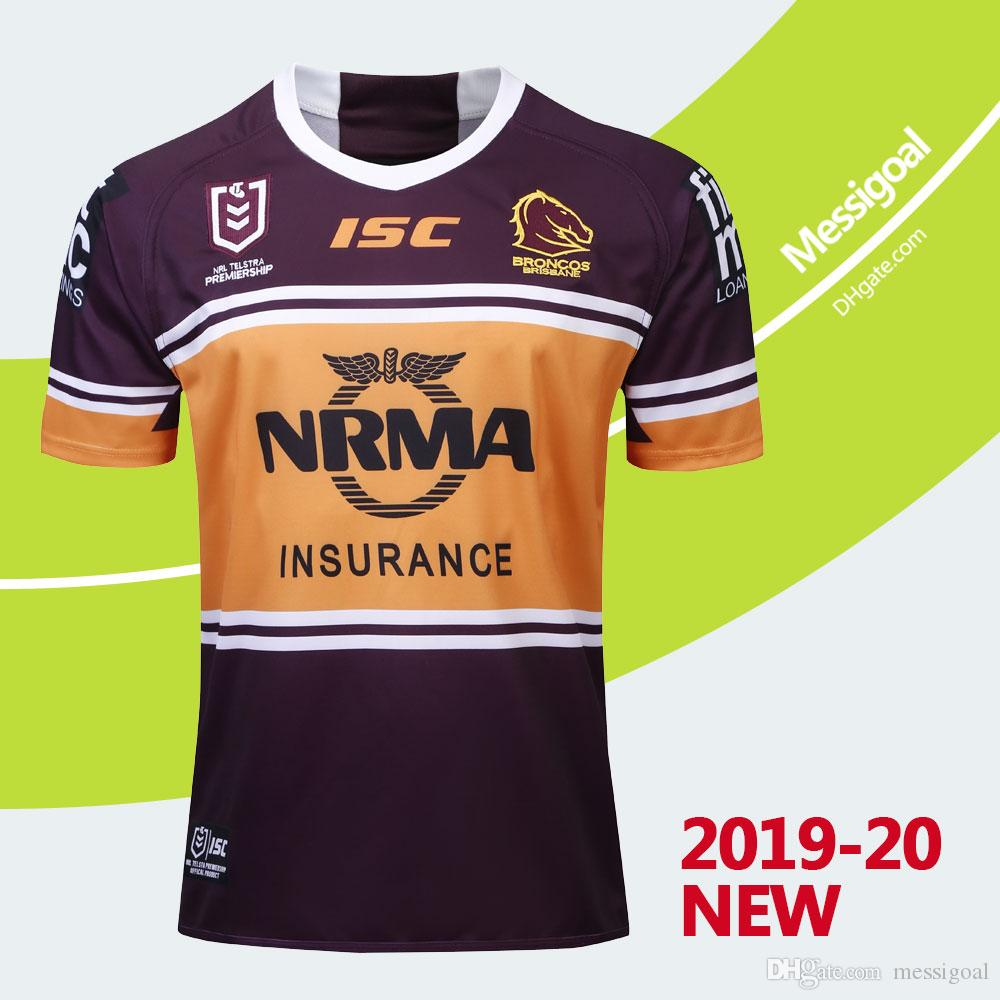 new style d128c 84cbc New 2019 2020 Brisbane Broncos Rugby Jersey NRL National Rugby League  Broncos Home Rugby Shirt Size S-3XL Free Shipping High Quality