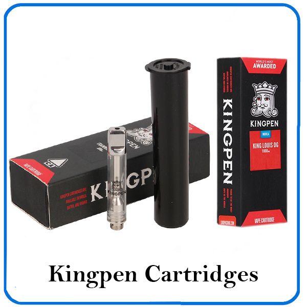 12 flavor for option newest kingpen vape cartridges Pyrex Glass Vape pen  0 5 1 0ml Ceramic Coil 0266224