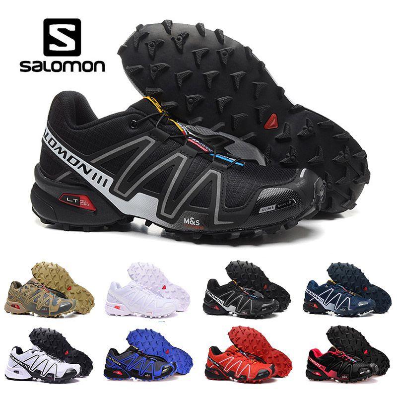 Nouveau Solamon Speed cross 3 CS III Chaussures De Course Noir Argent rouge Rose bleu Femmes En Plein Air SpeedCross 3s Randonnée Baskets De Sport