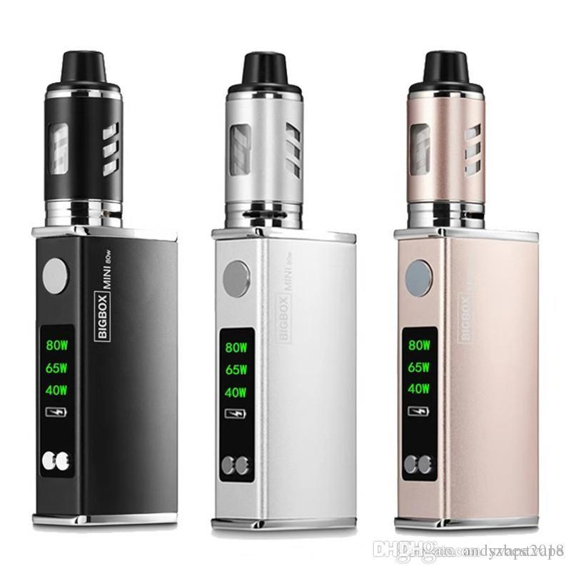 BIGBOX Mini 80W Vape Mods Starter Kits With Led Dispaly Screen Newest Big Vapor 2200mah Battery Vaporizer Kit DHL Free