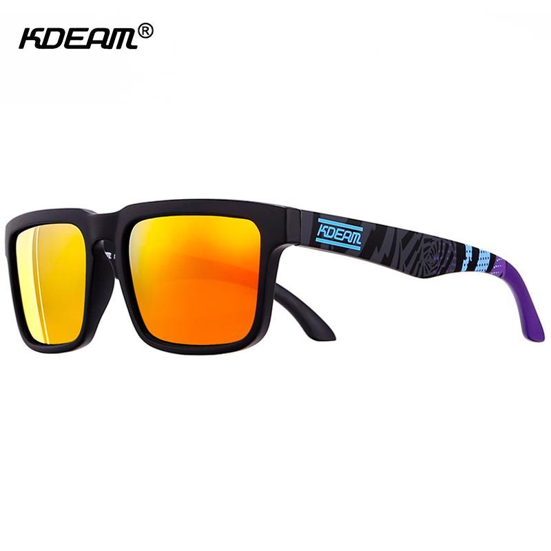e24db5349f Gafas De Sol Polarizadas Deportivas Para Hombres Diseñador De La Marca  Sunglass Mirror UV400 Gafas De Sol Para Mujeres Con Caja Universal KDEAM CE  Por ...