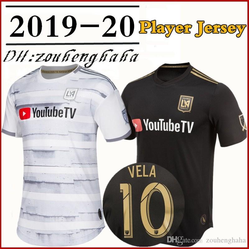 best website aa639 bd380 Men LAFC Carlos Vela Black 2019 Primary Authentic Player Jersey DIO  ZIMMERMAN CIMAN ROSSI GABER HORTA Zelaya Player version Football shirts