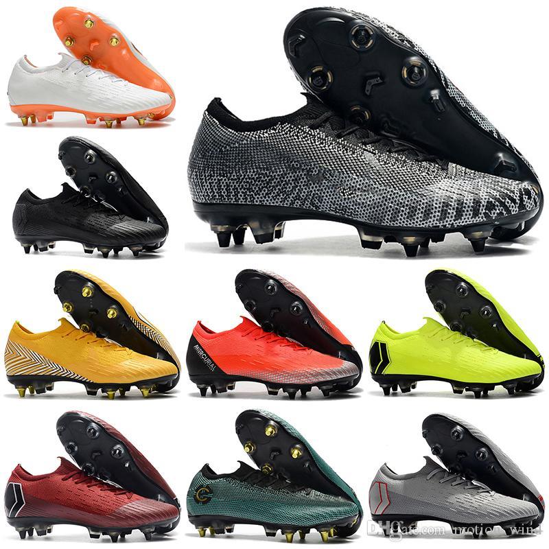Compre Botas De Fútbol Para Tobillo Bajo Para Hombre 2019 CR7 Mercurial  Vapors Furia VII Elite SG Zapatos De Fútbol ACC Neymar Superfly VI 360  Botines De ... c7f644afee358