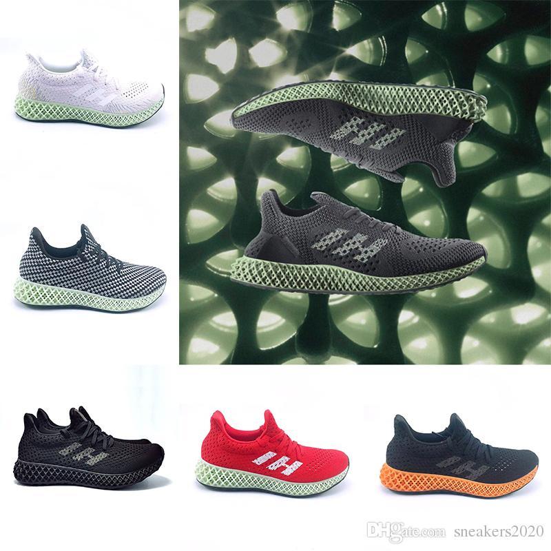 new product d7c9f ea7fc Acheter Adidas 2019 Futurecraft 4D Runner Chaussures De Course Pour Hommes  Femmes Frêne Vert Triple Noir Blanc Argent Hommes Designer Trainer Sport  Sneaker ...