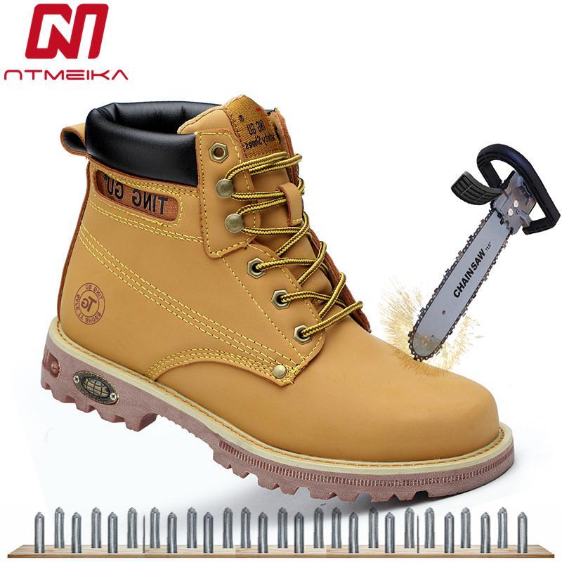 5590c85fe12 Compre Moda Para Hombre Botas De Seguridad Amarillas Zapatillas De Trabajo  Con Punta De Acero S5P Zapatillas De Deporte De Seguridad Para Exteriores  SRC ...