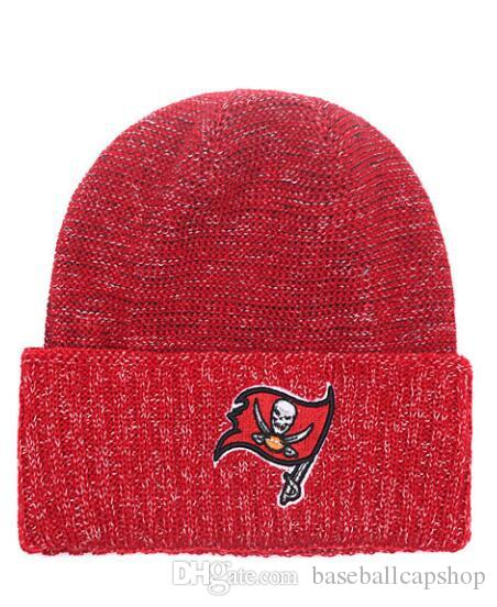 2019 One Piece Cheap Hip Hop Beanies Team Logo Embroidered Tampa Bay  Buccaneers Cuffed Knit Hat Sport Skull Men Women Winter Caps From  Baseballcapshop 245e46b1750