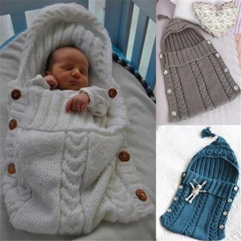 купить оптом Newborn Baby Wrap пеленание шерстяное вязаное одеяло