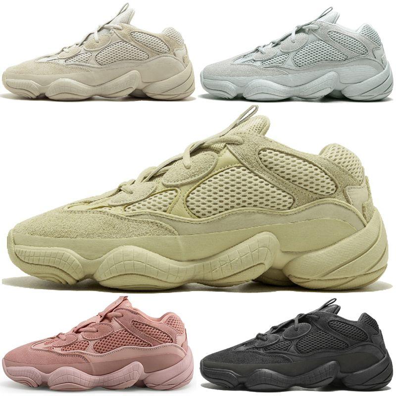 1ee95a6df Compre Hot New Kanye West 500 Desert Rat Blush 500s Salt Super Moon Yellow  Utility Negro Para Hombre Zapatillas Deportivas Para Hombre Mujer Zapatillas  ...
