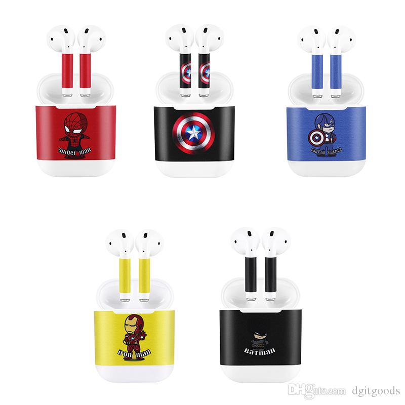 Tide Brand Sticker For Apple iPhone Airpods Wireless Bluetooth Headset Protection Film Cute Cartoon Skin Cover DHL