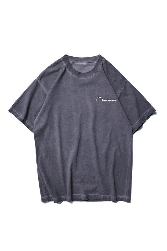 2019SS ACW A-COLD-WALL Logotipo de tinta salpicado Impreso Mujer Hombre Camisetas camisetas Hiphop Streetwear Hombre Algodón Camiseta envejecida