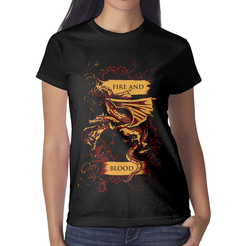 ee06407615a0f8 Game Of Thrones Targaryen Fire And Blood Poster Women T Shirt Black ...