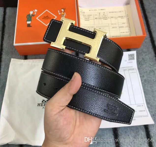 4fa7fddbcbb5 Quality Belt 2018 Fashion Brand Trademark Design Real Leather G Buckel Belt  Men And Women Big Buckle Belts And Box Online with  19.17 Piece on ...