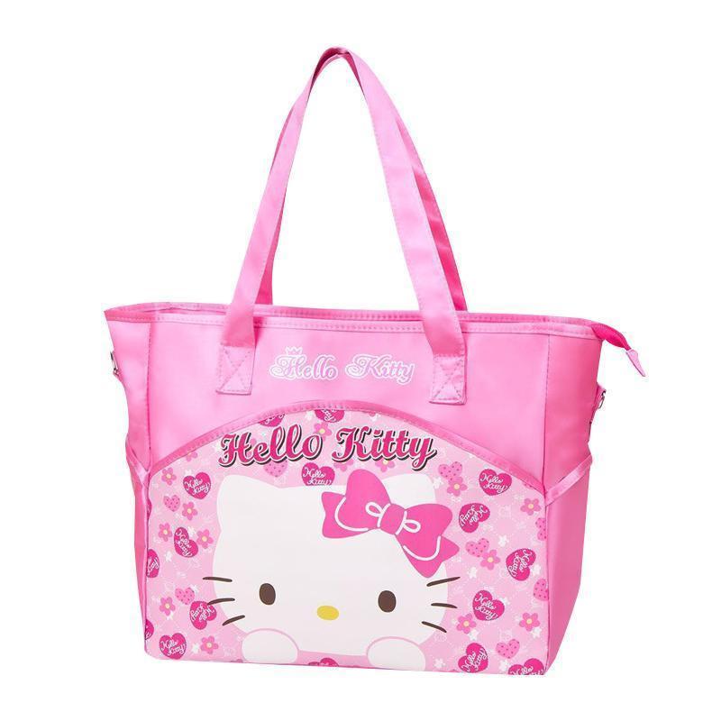 87ec32d04d57 Cartoon Hello Kitty Printed Handbag Women Shoulder Bag Fashion Phone Daily  Essentials Organizer Mummy Pouch Accessories Supply Duffle Bags Messenger  Bags ...