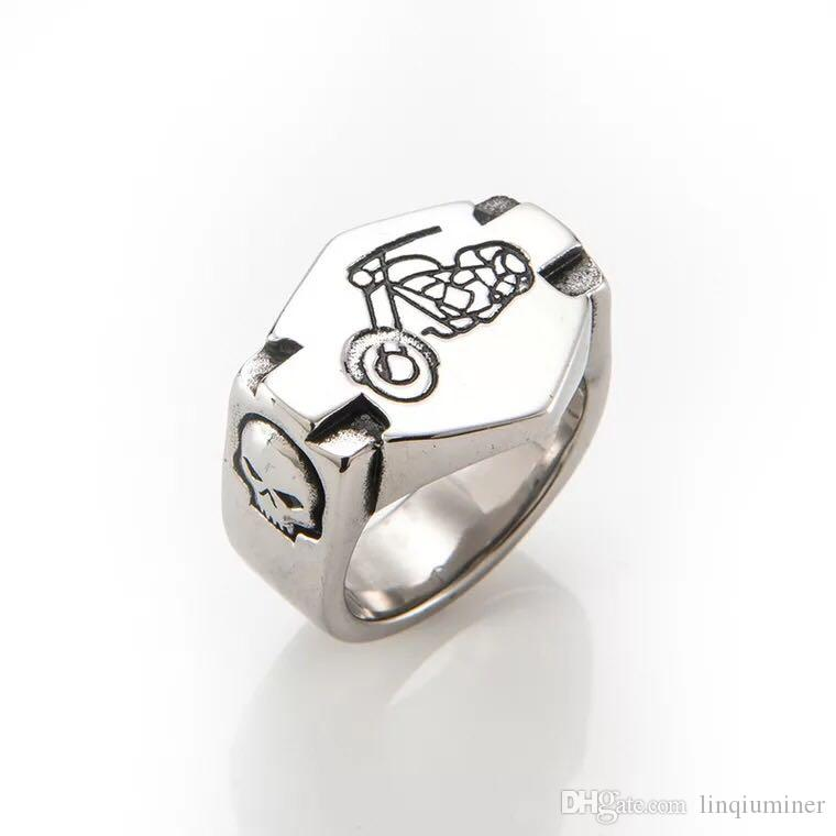 LIVE for ride motorcyle biker harley men.s ring stainless steel ring for men