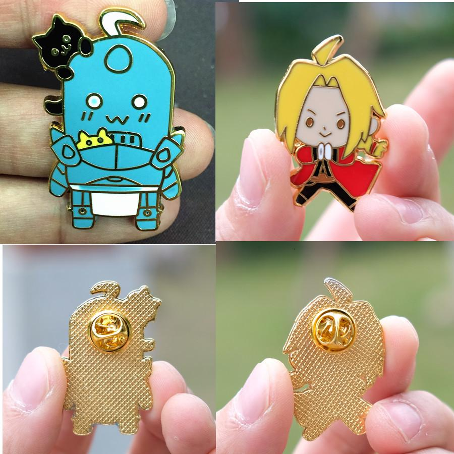 Fullmetal Alchemi Edward Elric badge Enamel Pins and Brooches Lapel pin Jewelry for Backpack/Jeans Clothes cosplay collection